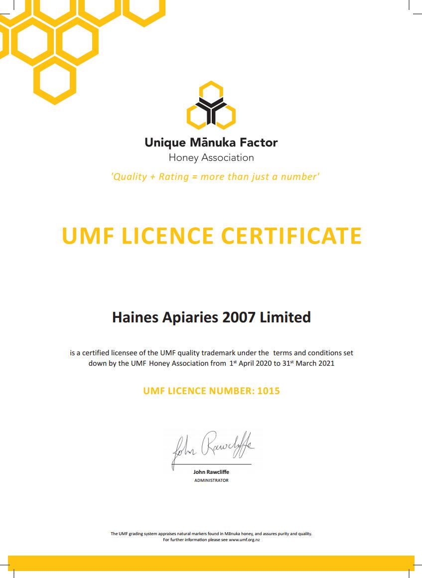 UMF certifikat